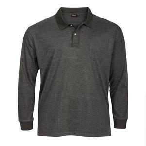 XXL Redfield Langarm-Poloshirt anthrazit melange