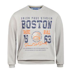Redfield Übergrößen Vintage Print Sweatshirt grau