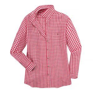 XXL Maddox Trachtenhemd Karo rot-weiß