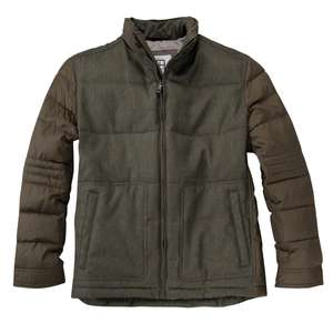 S4 Jackets modische Steppjacke oliv Übergröße