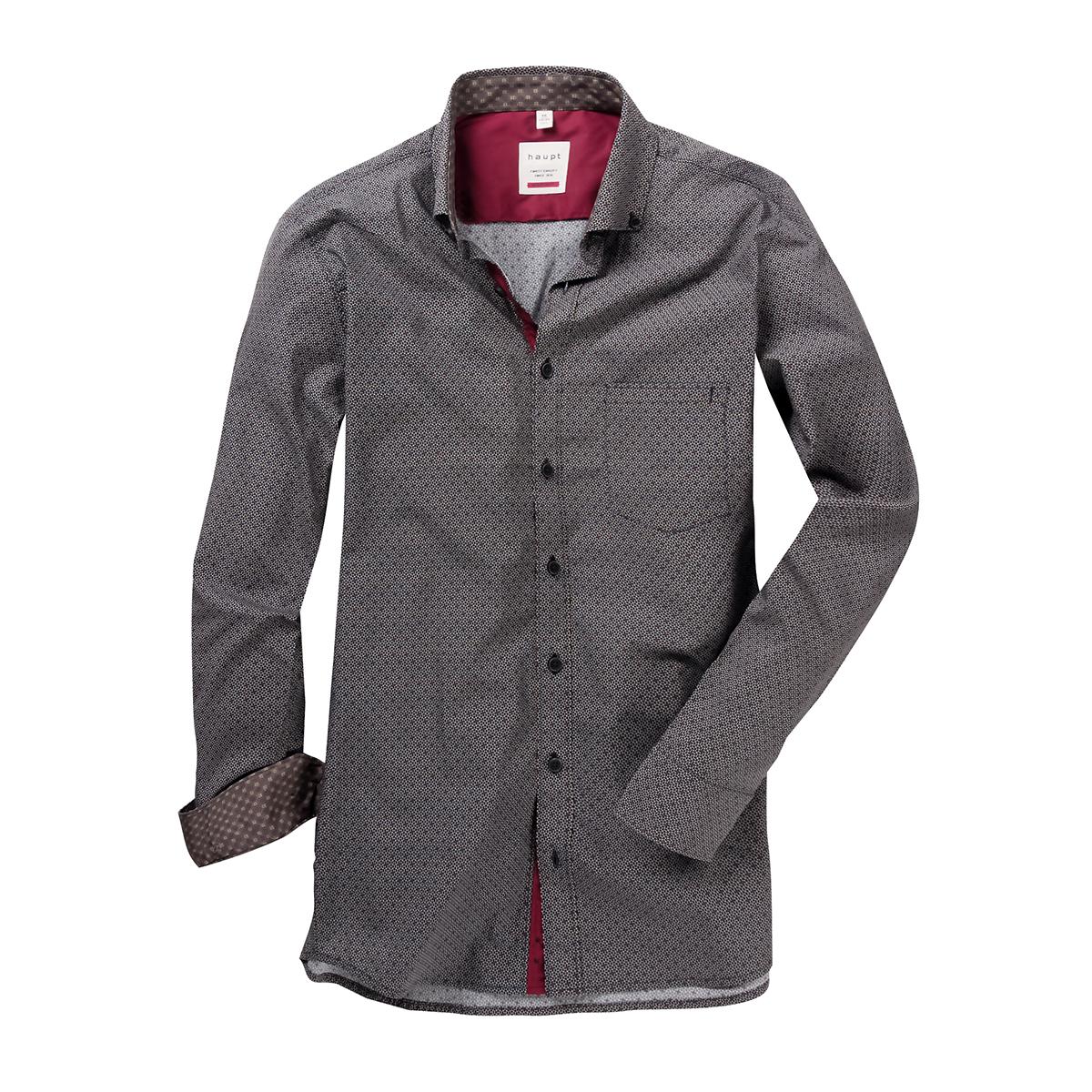 sports shoes fa6ee e6da3 Haupt modisches schwarzes Langarmhemd mit Allover Druck in rot-beige-weiß