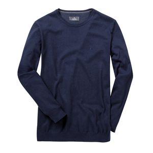 Ragman XXL Rundhals-Pullover marine melange