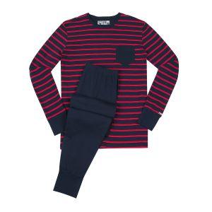 Jockey langer Pyjama XXL rot-dunkelblau