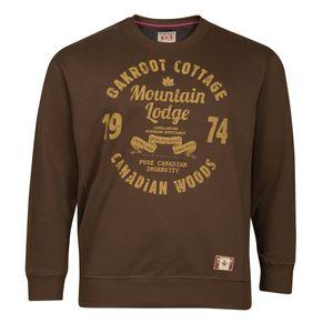 Redfield Übergrößen Vintage Sweatshirt mittelbraun