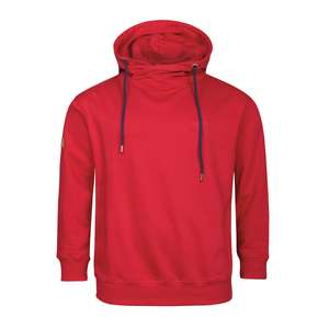 XXL Redfield Kapuzen Sweatshirt in rot mit Turtleneck