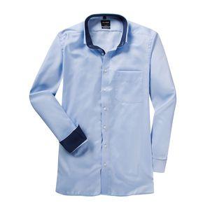 XXL Olymp Langarmhemd hellblau Minimal-Muster