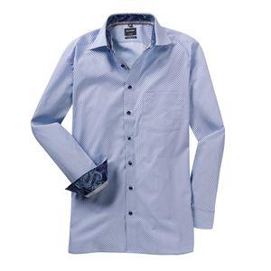 XXL Olymp bügelfreies Langarmhemd hellblau-lila