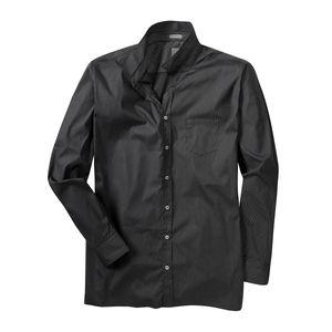 XXL Signum schwarz-weiß gestreiftes Langarmhemd