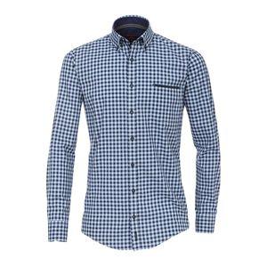 XXL Casa Moda Langarmhemd Karo blau
