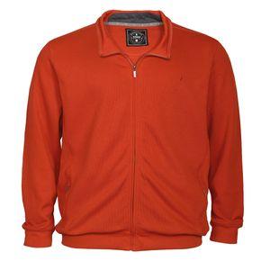 Ragman Sweatjacke orange Übergröße