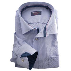 XXL CasaModa Businesshemd dezent gestreift hellblau