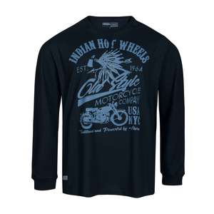 Ahorn Sportswear XXL Longsleeve dunkelblau Print