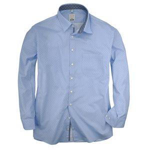 XXL Haupt hellblaues Minimaldruck Langarmhemd