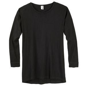 Übergröße Adamo Langarm Unterhemd Feinripp schwarz