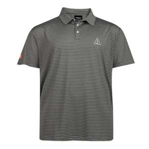 "XXL Allsize Polo ""Cool Effect"" gestreift grau meliert"
