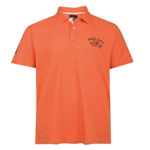 XXL Allsize Poloshirt Melangeoptik orange