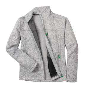 First B Strickfleecejacke XXL in grau meliert