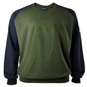 Raglan Sweatshirt in oliv-dunkelblau von Lucky Star