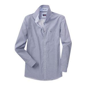 Casa Moda Langarmhemd modisch bedruckt navy-weiß XXL