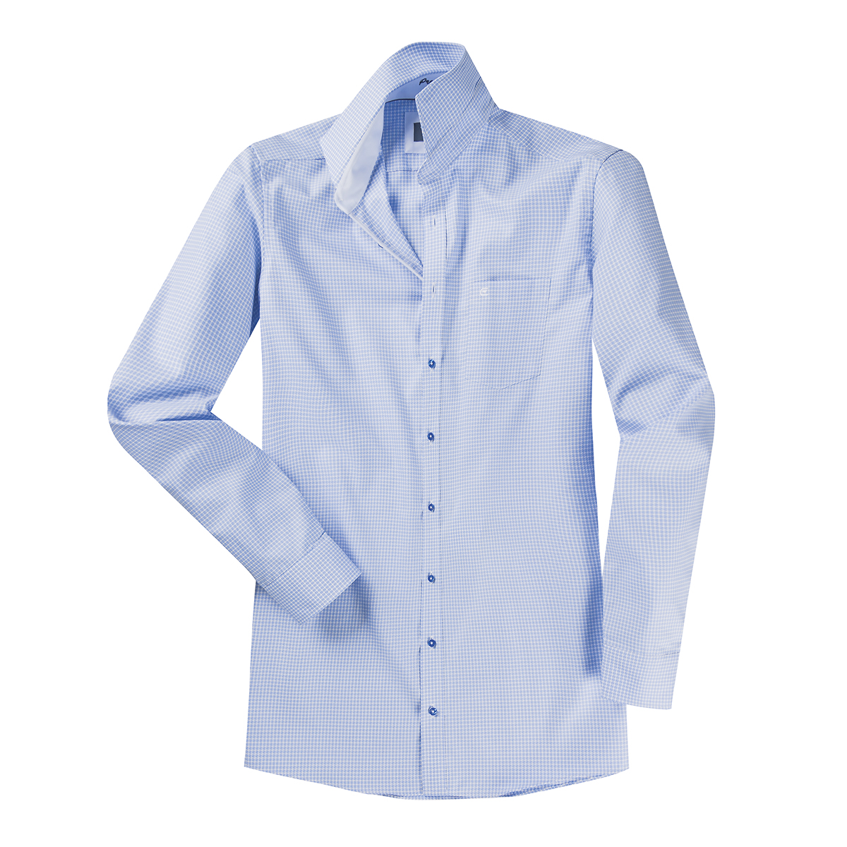 bergr en b gelfreies hemd extra langer arm blau wei. Black Bedroom Furniture Sets. Home Design Ideas