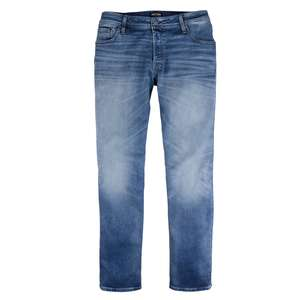 XXL Jack & Jones Used Look Stretch-Jeans blue denim