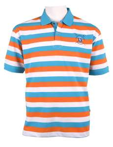 hajo Poloshirt weiß-blau-orange Rowing Club