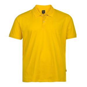 Übergröße Kitaro Poloshirt sonnengelb Basic Piqué