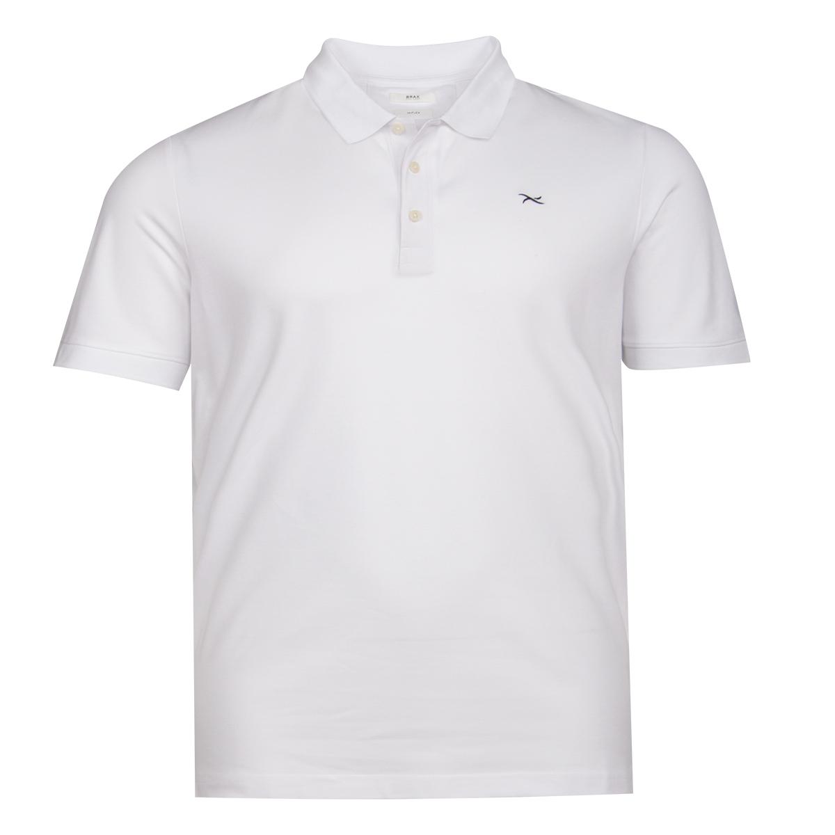 wholesale release info on best sell Brax Hi-Flex Poloshirt weiß