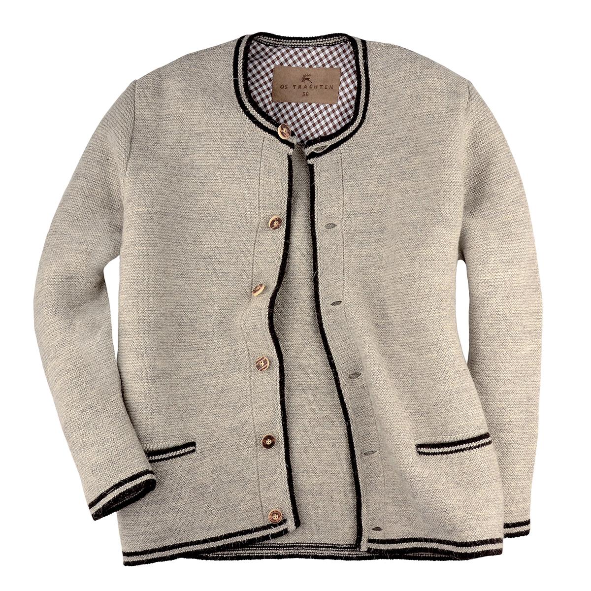Orbis Textilien Trachtenjacke Trachtenjanker aus Baumwolle Olivbraun