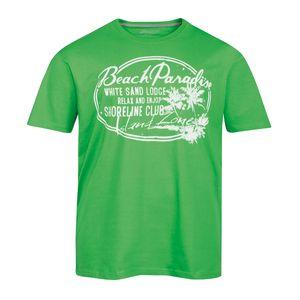 XXL Redfield T-Shirt apfelgrün Vintage Druck