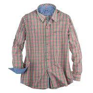 Maddox Trachtenhemd kariert grün-rot XXL 001