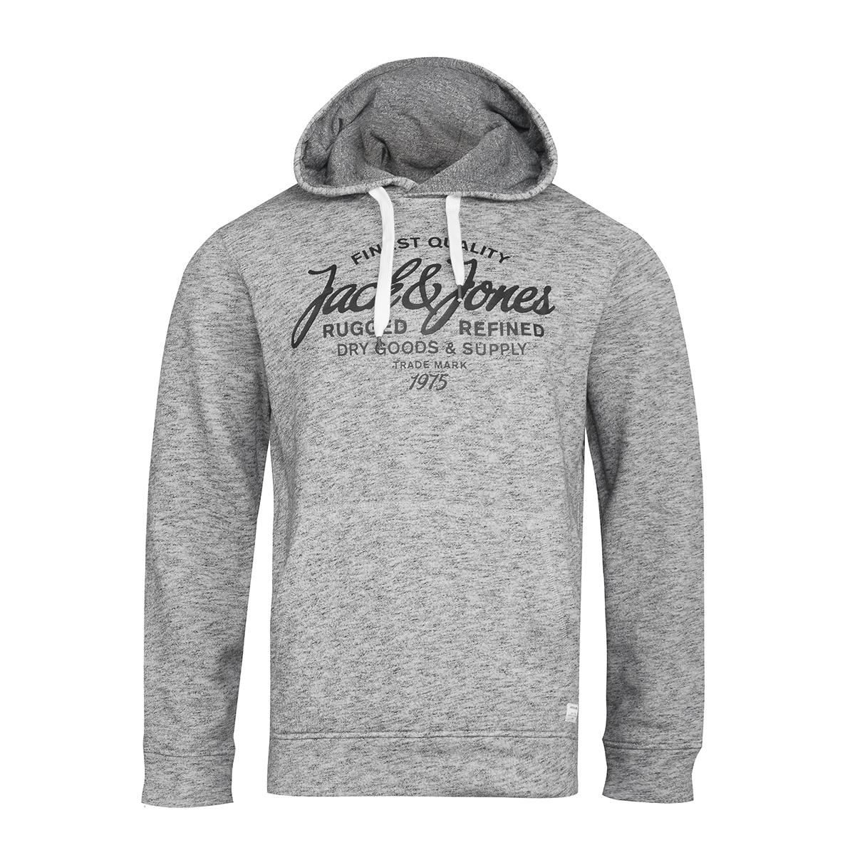 269932d959f4f5 Übergrößen Jack   Jones bedruckter Hoodie grau meliert