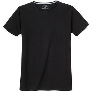 XXL Kitaro Basic T-Shirt schwarz Stretch