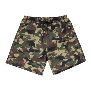 Abraxas XXL Badeshorts Camouflage oliv-braun