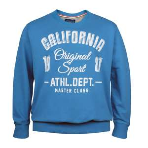 XXL Redfield aquablaues Sweatshirt Sportmotiv Print