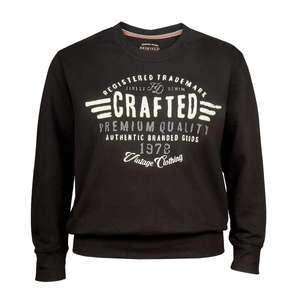 XXL Redfield Sweatshirt schwarz Print