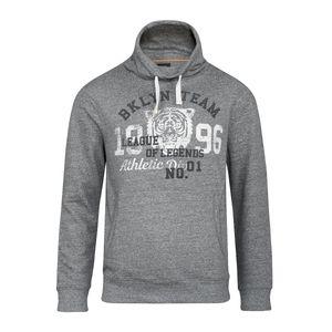 XXL Kitaro Sweatshirt grau meliert Druck