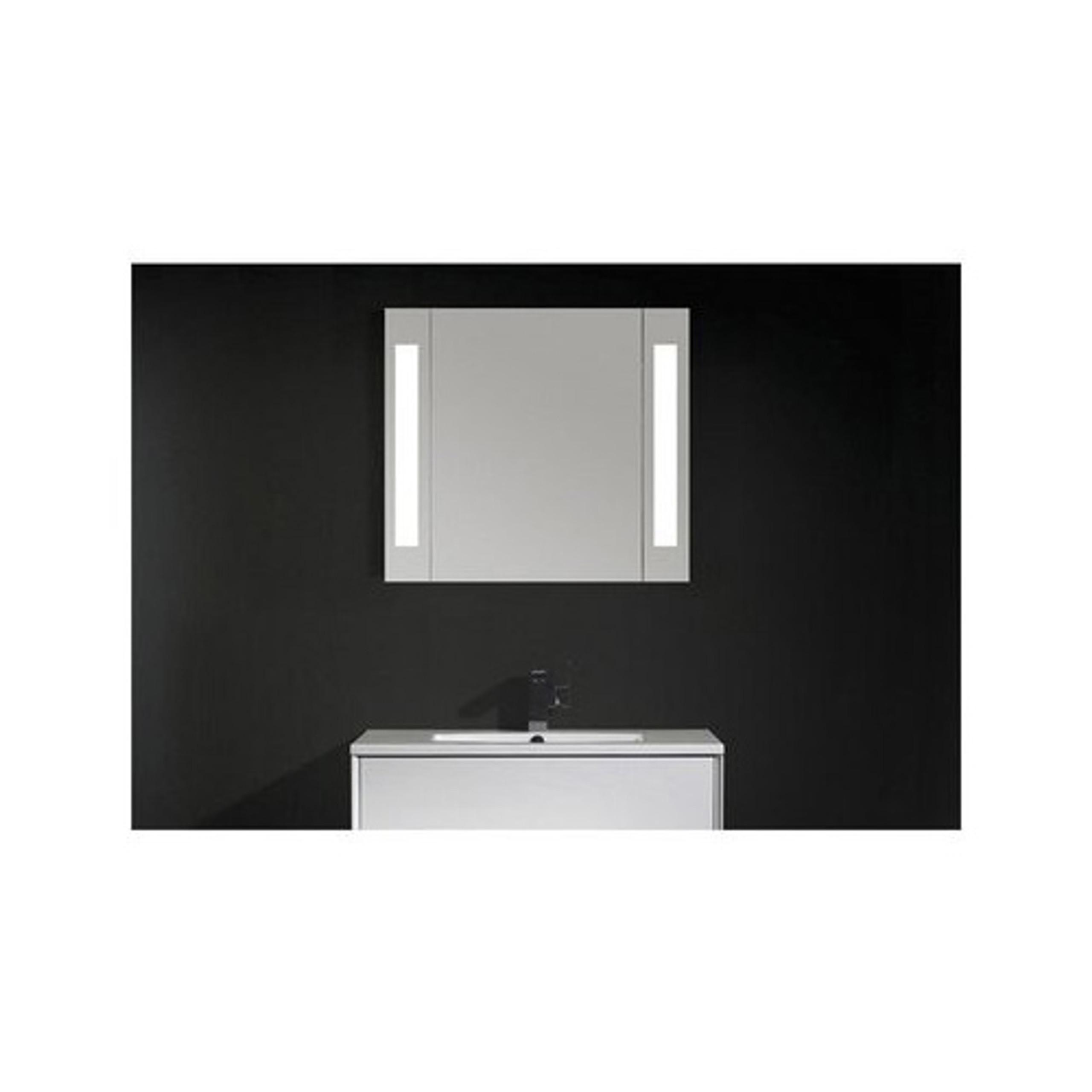 80cm mdf spiegelschrank corner spiegel beleuchtung bad badm bel badschrank spiegelschr nke mdf. Black Bedroom Furniture Sets. Home Design Ideas
