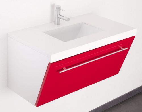 myBATH Badmöbel-Set Emilia 80 cm Rot