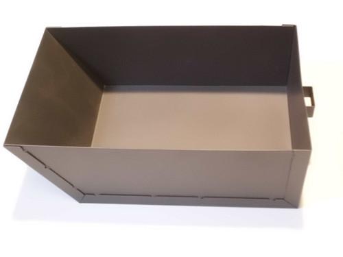 Aschekasten anthrazit/schwarz für Kamin- und Werkstattöfen  L 27,5 x B 16,5 x H 8,5 cm