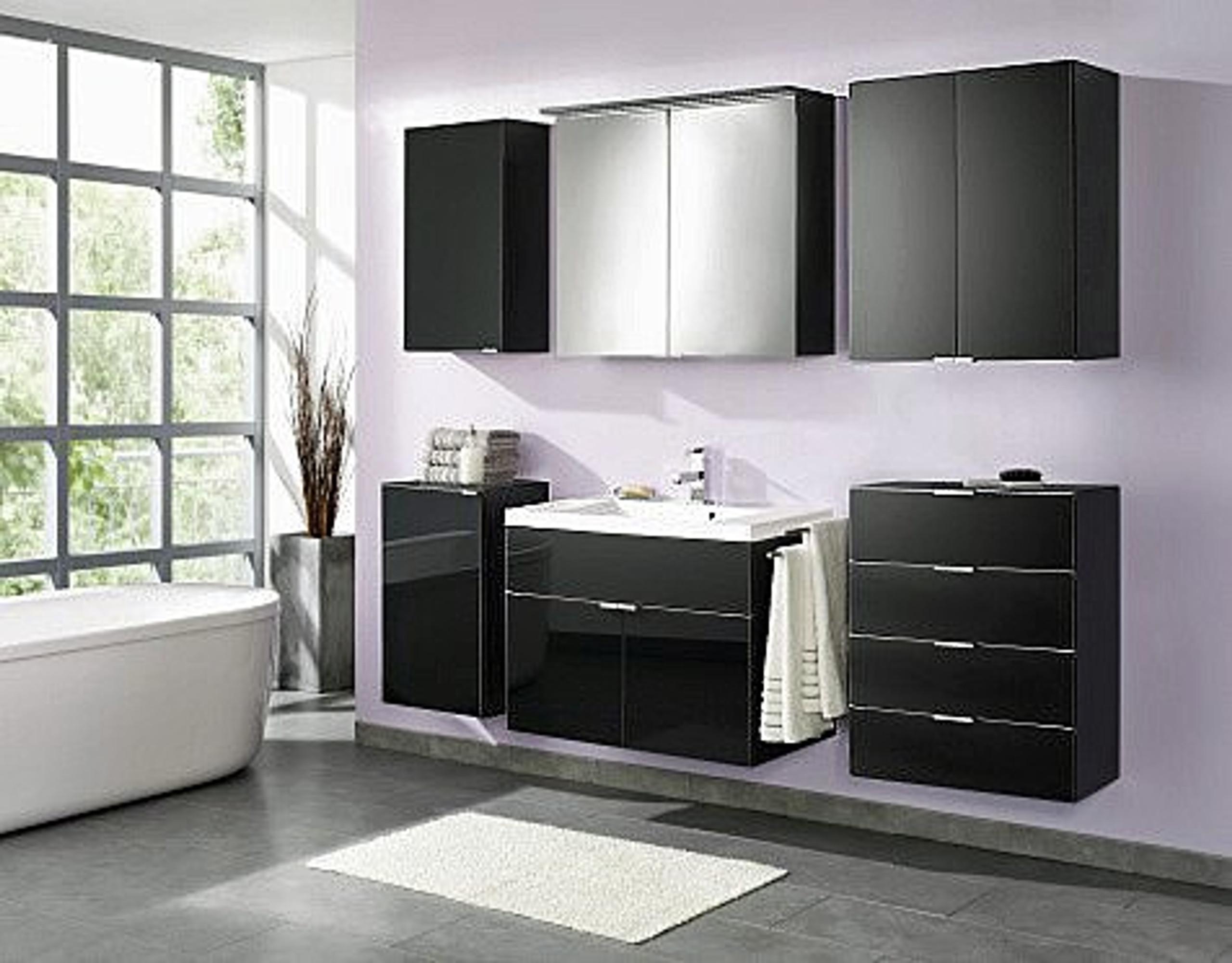 badmobel schwarz, komplettbad, badmöbel, bad set florenz (6-tlg), schwarz mit, Design ideen