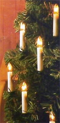 Christbaum Weihnachtsbeleuchtung LICHTERKETTE mit 20 Kerzen