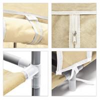 Schuhregal SCHUHSCHRANK Regal Faltschrank mit Stoffbezug und 9 Ablagen (beige)