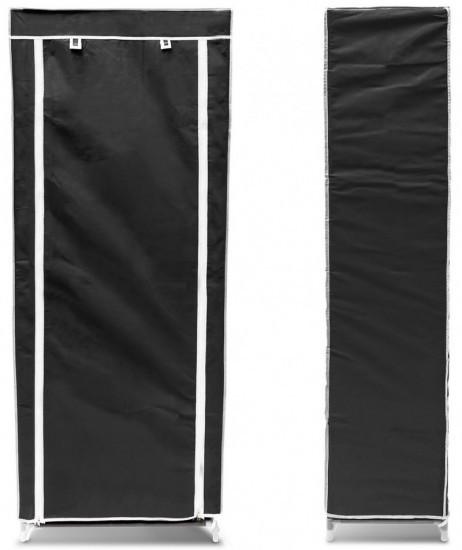 Schuhregal SCHUHSCHRANK Faltschrank mit Stoffbezug und 9 Ablagen (schwarz) – Bild 4