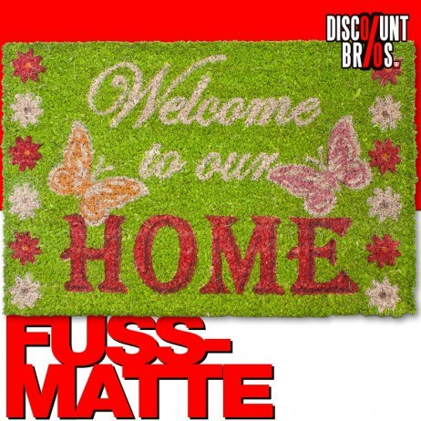 FUSSMATTE Kokosmatte Türvorleger WELCOME TO OUR HOME – Bild 1