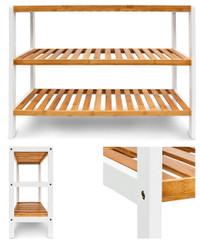 SCHUHREGAL mit 3 Ablagen aus Bambus Holz