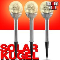 3er-Set Solarlampe LED SOLAR LEUCHTKUGEL Kugelleuchten Kugellampen Eco Solem Ø8cm