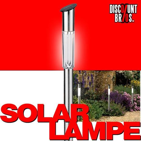 LED SOLAR LAMPE aus Edelstahl 62cm – Bild 1