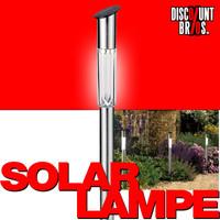 LED SOLAR LAMPE aus Edelstahl 62cm