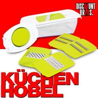 Enrico Küchenreibe und Hobel mit Behälter 5in1-Set 001
